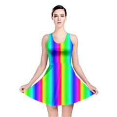 Rainbow Gradient Reversible Skater Dress