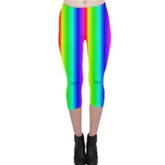 Rainbow Gradient Capri Leggings