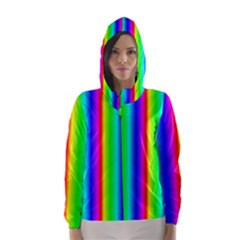 Rainbow Gradient Hooded Wind Breaker (Women)