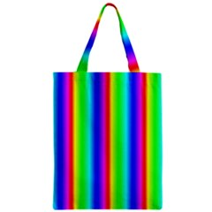 Rainbow Gradient Zipper Classic Tote Bag