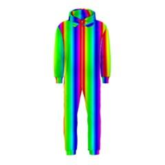 Rainbow Gradient Hooded Jumpsuit (Kids)