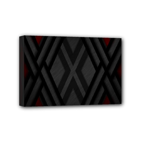 Abstract Dark Simple Red Mini Canvas 6  x 4