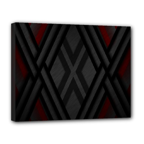 Abstract Dark Simple Red Canvas 14  X 11