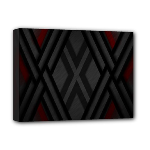 Abstract Dark Simple Red Deluxe Canvas 16  x 12