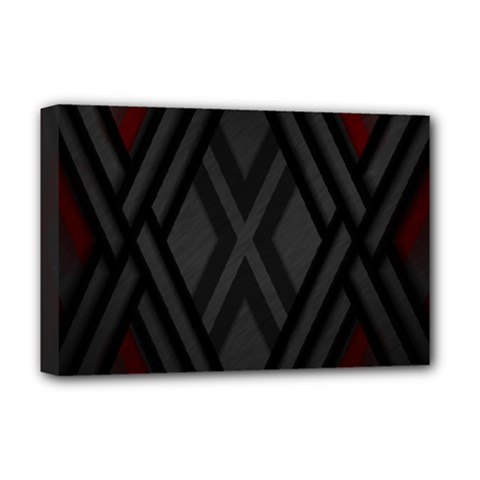Abstract Dark Simple Red Deluxe Canvas 18  X 12