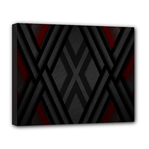 Abstract Dark Simple Red Deluxe Canvas 20  x 16