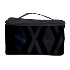 Abstract Dark Simple Red Cosmetic Storage Case
