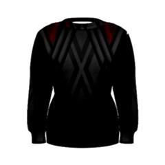 Abstract Dark Simple Red Women s Sweatshirt