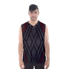 Abstract Dark Simple Red Men s Basketball Tank Top
