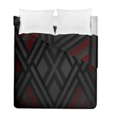 Abstract Dark Simple Red Duvet Cover Double Side (full/ Double Size)