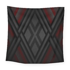Abstract Dark Simple Red Square Tapestry (large)