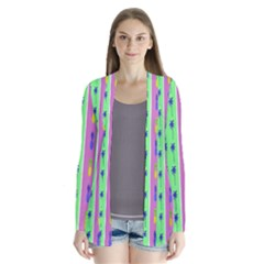 Eye Coconut Palms Lips Pineapple Pink Green Red Yellow Cardigans