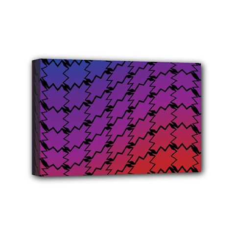 Colorful Red & Blue Gradient Background Mini Canvas 6  X 4