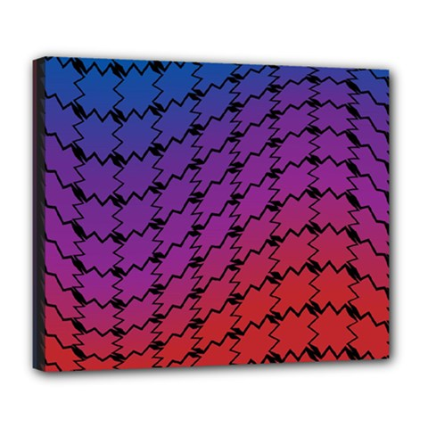 Colorful Red & Blue Gradient Background Deluxe Canvas 24  x 20