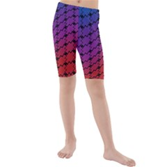 Colorful Red & Blue Gradient Background Kids  Mid Length Swim Shorts