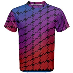 Colorful Red & Blue Gradient Background Men s Cotton Tee