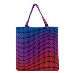Colorful Red & Blue Gradient Background Grocery Tote Bag
