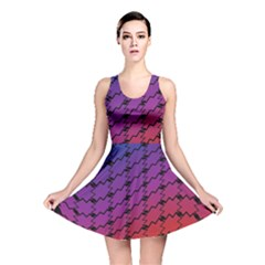 Colorful Red & Blue Gradient Background Reversible Skater Dress