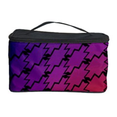 Colorful Red & Blue Gradient Background Cosmetic Storage Case