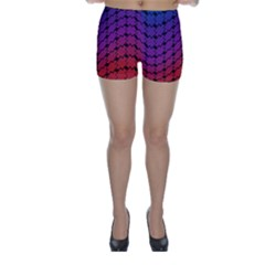 Colorful Red & Blue Gradient Background Skinny Shorts