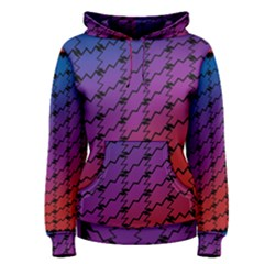 Colorful Red & Blue Gradient Background Women s Pullover Hoodie