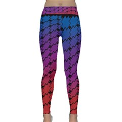 Colorful Red & Blue Gradient Background Classic Yoga Leggings