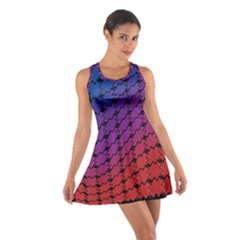 Colorful Red & Blue Gradient Background Cotton Racerback Dress
