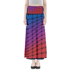 Colorful Red & Blue Gradient Background Maxi Skirts
