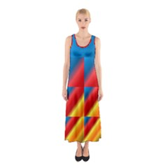 Gradient Map Filter Pack Table Sleeveless Maxi Dress