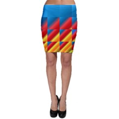 Gradient Map Filter Pack Table Bodycon Skirt