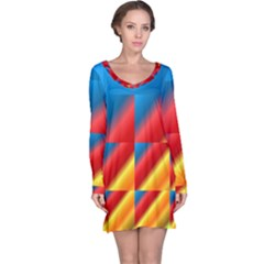 Gradient Map Filter Pack Table Long Sleeve Nightdress