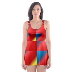 Gradient Map Filter Pack Table Skater Dress Swimsuit