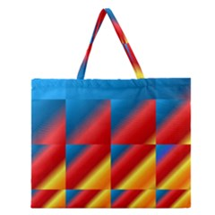Gradient Map Filter Pack Table Zipper Large Tote Bag