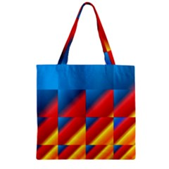 Gradient Map Filter Pack Table Zipper Grocery Tote Bag