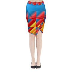Gradient Map Filter Pack Table Midi Wrap Pencil Skirt