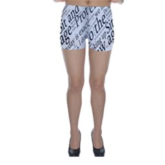 Abstract Minimalistic Text Typography Grayscale Focused Into Newspaper Skinny Shorts