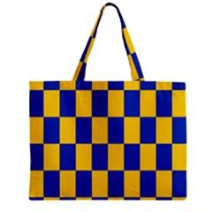 Flag Plaid Blue Yellow Mini Tote Bag