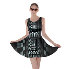 Optical Illusion Square Abstract Geometry Skater Dress