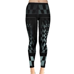 Optical Illusion Square Abstract Geometry Leggings