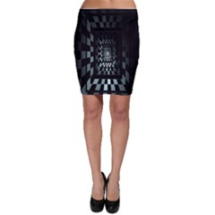 Optical Illusion Square Abstract Geometry Bodycon Skirt