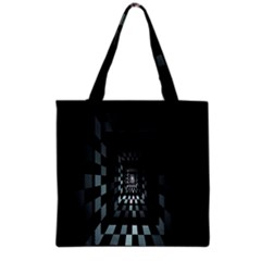 Optical Illusion Square Abstract Geometry Grocery Tote Bag