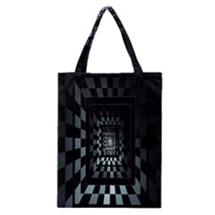 Optical Illusion Square Abstract Geometry Classic Tote Bag
