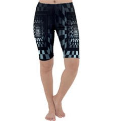 Optical Illusion Square Abstract Geometry Cropped Leggings