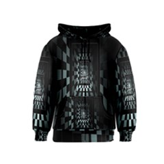 Optical Illusion Square Abstract Geometry Kids  Zipper Hoodie