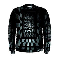 Optical Illusion Square Abstract Geometry Men s Sweatshirt