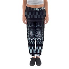Optical Illusion Square Abstract Geometry Women s Jogger Sweatpants