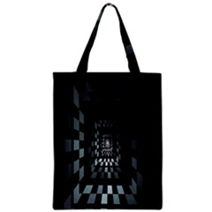 Optical Illusion Square Abstract Geometry Zipper Classic Tote Bag