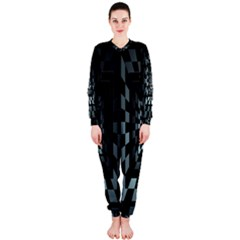 Optical Illusion Square Abstract Geometry Onepiece Jumpsuit (ladies)
