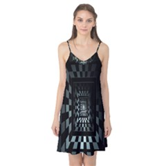 Optical Illusion Square Abstract Geometry Camis Nightgown