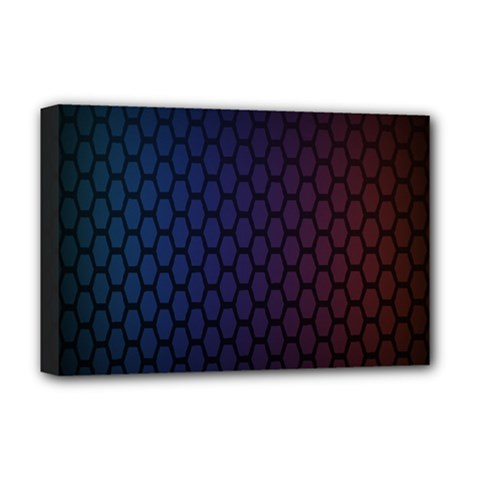Hexagon Colorful Pattern Gradient Honeycombs Deluxe Canvas 18  x 12